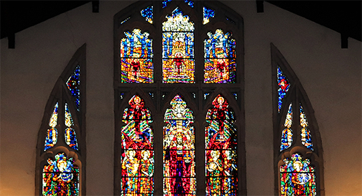 Picture of church stained-glass window